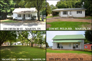 4 INVESTMENT PROPERTIES IN MARTIN, TN