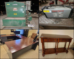 SHOP EQUIPMENT - TOOLS - OFFICE FURNITURE