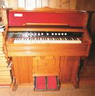 HAMILTON PUMP PEDAL ORGAN WITH OAK FRAME,