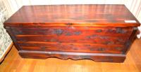 "CEDAR CHEST, 20"" x 55"", TAPERED ROUNDELS ON END"