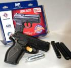 CROSSMAN T10 BB PISTOL - SEMI-AUTO - BB CAL 4.5mm GAS OPERATED - 3 CLIPS - APPEARS LIKE NEW, FIRED VERY LITTLE - IN BOX - AND PARTIAL BOX (25+/-) COPPERHEAD GAS CYLINDERS AND BBs, CONDITION UNKNOWN
