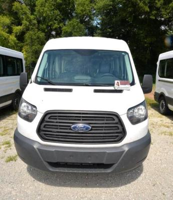 2016 FORD TRANSIT WAGON VAN - XL/XLT - 4 DOOR - REAR WHEEL DRIVE - V6 - 3.5L - TURBO - ECOBOOST - BRAUNABILITY REAR WHEELCHAIR LIFT - SINGLE STEP ON DRIVER'S SIDE - LONG STEP ON PASSENGER SIDE - REAR FOLDING SEATS - 2 DOUBLES, 2 SINGLES - LETTERS HAVE BEE