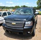 2011 CHEVROLET TAHOE - MULTIPURPOSE VEHICLE - LTZ 4 DOOR WAGON - REAR WHEEL DRIVE - V8, 5.3L - BLACK - LEATHER INTERIOR - AUTOMATIC TAILGATE - REAR FOLDING SEAT NEEDS ADJUSTMENT.MILEAGE:  112,350VIN # 1GNSCCE05BR293393