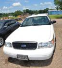 2011 FORD CROWN VICTORIA INTERCEPTOR - 4 DOOR - REAR WHEEL DRIVE - V8, 4.6L - WHITE - SPOTLIGHT - DRIVER'S SIDE CORNER OF FRONT BUMPER BUSTED - PREVIOUSLY HAD 2 ANTENNAS ON TOP.MILEAGE:  91,822VIN#2FABP7BV7BX171571