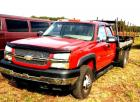 2003 CHEVROLET 3500 DURAMAX DIESEL TRUCK - 137,769 MILES - RED - 6.6 TURBO DIESEL - 4 WHEEL DRIVE - AUTOMATIC - GOOD CONDITION - A/C WORKS  -  POWER WINDOWS - EXTENDED CAB - FULL BENCH -  REAR SEAT - TINTED WINDOWS - WILD CAT FLASH  RUNNING BOARDS (SOME R