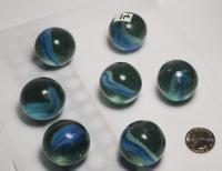 ASSORTMENT OF (12) VINTAGE JUMBO MARBLES