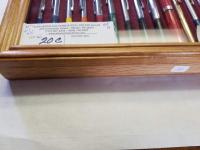 "(2) WOOD DISPLAY CASES, GLASS TOP, 12.25"" x 15.5"" - **PENS NOT INCLUDED**"