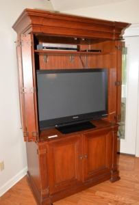 "ENTERTAINMENT CENTER - 44.5"" x 81.5"" x 25.25"" DEEP"