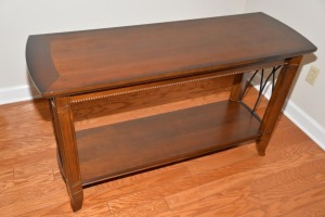 "MAHOGANY LIBRARY TABLE - 17"" x 49"""