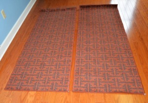"(2) CLIPPER RAWHIDE AREA RUGS - 27"" x 72"""