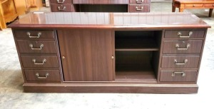 "EXECUTIVE CREDENZA - CENTER SLIDING DOORS   - 21"" x 72"""