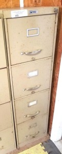 4-DRAWER FILE CABINET - WITH KEYS