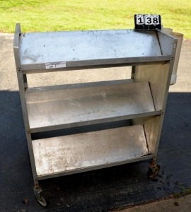 ALUMINUM ROLLING SHOP STAND - DOUBLE SIDED