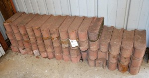 "(56) LANDSCAPING BRICKS - OVAL FRONT - 12"" LONG x"