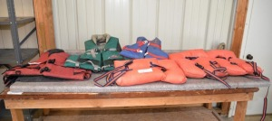 (6) LIFE JACKETS - FLOTATION DEVICES