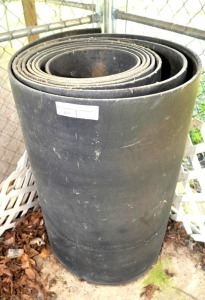 "ROLL OF RUBBER BELTING - 36"" WIDE"