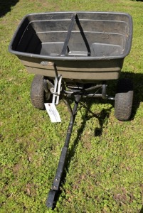 YARD FERTILIZER CART - LARGE SIZE - RUBBER TIRES