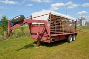 2000 W-W STOCK TRAILER, GOOSENECK - NO TITLE - SELLS ON BILL OF SALE