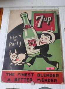 (2) 7up POSTERS