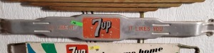 "VINTAGE 7UP DOOR PUSH, ""YOU LIKE IT IT LIKES YOU"""