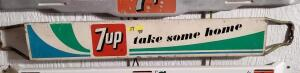 "VINTAGE 7UP DOOR PUSH ""7up take some home"""