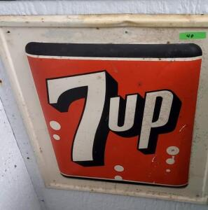 (2) METAL 7UP SIGNS, ca. 1960's
