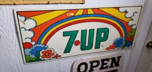 "COLORFUL ""7UP"" METAL SIGN"