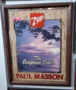 "7UP ""PAUL MASSON The California Cooler"" MIRROR"