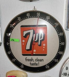 "THERMOMETER ""7up fresh, clean taste!"", GLASS FRONT"