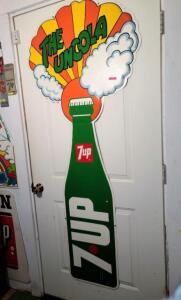 """THE UNCOLA 7UP"" TIN SIGN"