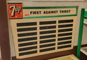 "7UP MENU BOARD SIGN ""FIRST AGAINST THIRST"""