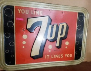 """YOU LIKE 7UP - IT LIKES YOU"" TIN SIGN"