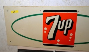 """7up"" WALL SIGN, BRIGHT COLORED"