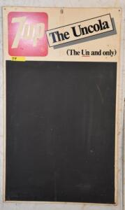 """7up The Uncola (The Un and only)"" MENU BOARD SIGN"