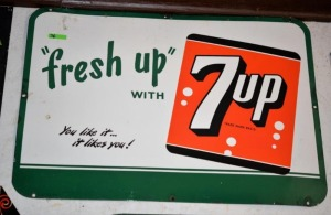 """fresh up WITH 7up - You like it ...it likes you!"""