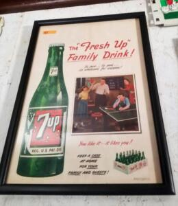"""The Fresh Up Family Drink!"" LITHOGRAPH, ca. 1950"