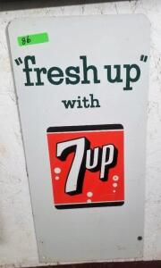 """fresh up with 7up"" METAL SIGN"
