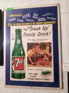 """The Fresh Up Family Drink!"" ADVERTISEMENT SIGN"