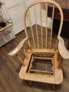 GLIDER ROCKER - BOTTOM CUSHION MISSING - NEEDS