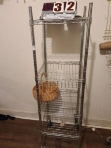 ROLLING STORAGE RACK AND CONTENTS - BASKETS