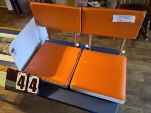 (2) STADIUM SEATS WITH BACKS -- UT STADIUM FRAMED