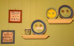 MULBERRY COLLECTION PLATES, BOWL AND CUP --