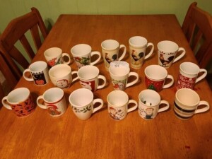 COLLECTION OF COFFEE MUGS -- (3) ROOSTER MUGS -