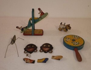 VINTAGE TOYS - TIN SEE SAW TOY (MISSING TOP) -