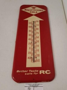 "ROYAL CROWN COLA THERMOMETER - ""512 DONASCO2-58"""