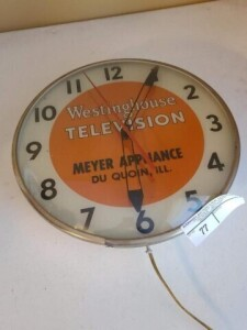 """WESTINGHOUSE TELEVISION"" ELECTRIC CLOCK"