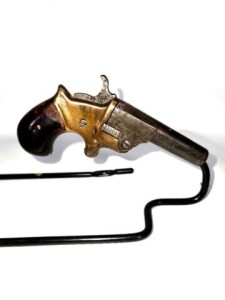ANTIQUE PISTOL - SINGLE SHOT - 40 CAL