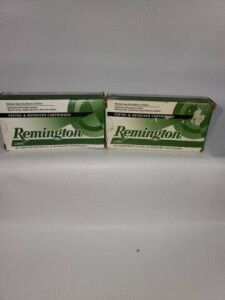 (2) BOXES REMINGTON UMC CENTERFIRE PISTOL AND
