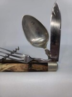 CAMPING KNIFE - FORK - SPOON - CORKSCREW - - 3