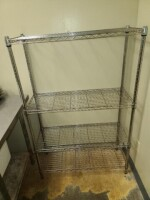 STEEL WIRE RACK WITH SHELVES